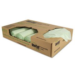 Heritage Bag Biotuf Compostable Can Liners, 48 gal, 1 mil, 48 x 42, Green Y8448YER01