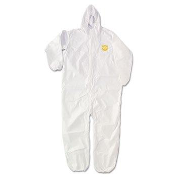 Proshield Nexgen White Coverall (Proshield Nexgen Elastic-Cuff Hooded Coveralls, White, Xxx-Large, 25/carton)