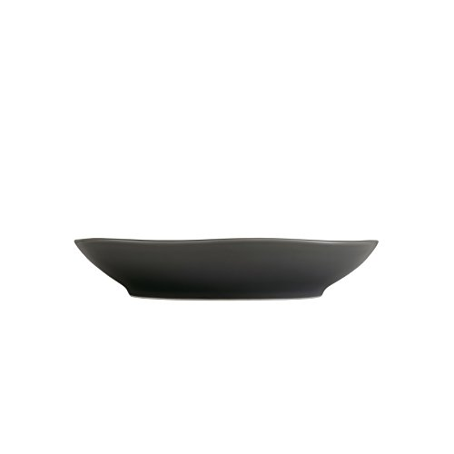 (Fortessa Vitraluxe Dinnerware Heirloom Matte Finish Coupe Pasta Bowl 9-Inch, Charcoal, Set of 4)