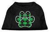 Mirage Pet Products Argyle Paw Green Screen Print Shirt Black XXXL (20) from Mirage Pet Products