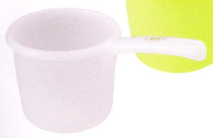 - JapanBargain S-3042, Japanese Water Ladle Leaf Series, White