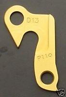 Pilo D13 Gold Derailler Hanger - Fits: Haro Extreme, Merida, Carrera, KHS, Pedal Power