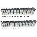 Craftsman Laser Etched Easy Read 24 Piece SAE & Metric 3/8'' Drive 12 Point Deep Well Socket Set by Craftsman