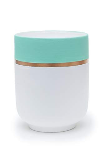 Multi-Purpose - Turquoise Utensil Crock or Ceramic Flower Pot Indoor - 6 Inch Planter