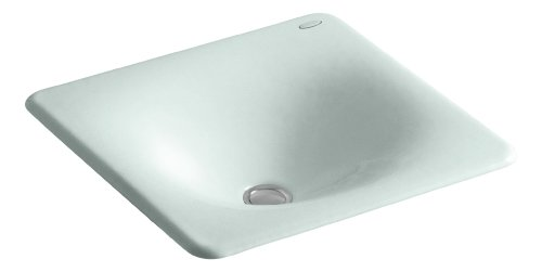 - KOHLER K-2827-FE Iron/Tones Cast Iron Undercounter/Self-Rimming Bathroom Sink, 16-3/8
