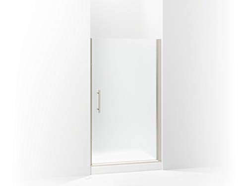 (Sterling 5698-42N-G03 Finesse Peak Frameless Pivot Shower Door with Frosted Glass, 42-in W x 67-in H,)