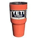 YETI Ramblerシリーズ 30オンス ステンレススチール製タンブラー パウダーコーティング加工済み カスタムカラー 30オンス オレンジ B01N10WUQM コーラル コーラル