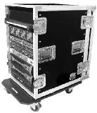 Road Ready RR16UAD24W 16U Amplifier Deluxe Case with 24-Inch Body Depth from Road Ready