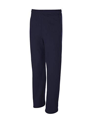 JERZEES 974MPR - NuBlend Open Bottom Pocketed Sweatpants, J. Navy, S ()
