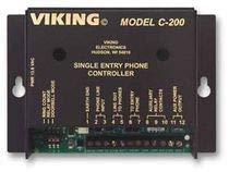 Viking C-200 Single Entry Phone Controller for E-10A/E-20B/E-30/E-35/E-40/E-50/E-60/E-65/E-70/E-75 Phones/K-1500-7 Stainless Steel Panel Phone, 120V AC Power