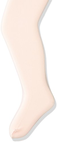 Capezio Little Girls' Ultra Soft Self Knit Waistband Footed Tight, Ballet Pink, One Size (Toddler 2-6)