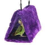Purple Bird Parrot Budgie Nest Shed Fluffy Warm