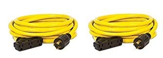 Champion 25-Foot 30-Amp 125//250-Volt Fan-Style Generator Extension Cord L14-30P to four 5-20R Champion Power Equipment 48036