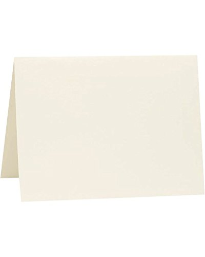 A7 Folded Notecards (5 1/8 x 7) - Savoy - Natural White (1000 Qty.) by Reich Paper