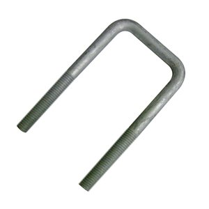 (2) 1/2 U-bolts 3 3/4 X 7 Inch Square Galvanized Nuts and Washers Included by Waterland