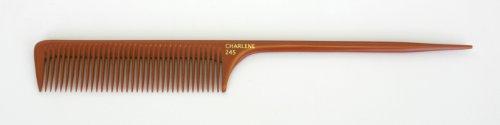 Charlene Bone Comb Wider Teeth Rattail Heat-Resistant Drawing #245 - Bone Comb
