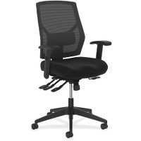 HON Crio High-Back Task Chair -Mesh Back Computer Chair with Asynchronous Control for Office Desk, Black (HVL582)