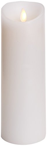 Darice LM308002 Luminaria Flameless Candle, Unscented Moving Flame Candle with Timer, 8, White