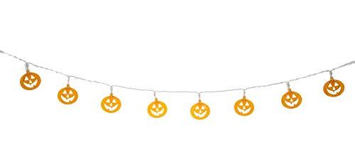 Ganz Halloween Pumpkin Garland 10 LED Lights 48in - Jack-o-Lantern EH53622