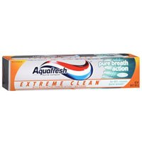 Aquafresh Extreme Clean Pure Breath Action Fluoride Toothpaste, Fresh Mint 5.6z ( Pack of - Toothpaste Clean Extreme Aquafresh Fluoride