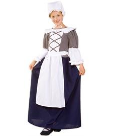 [RG Costumes Colonial Peasant Girl, Child Medium/Size 8-10] (Comic Con Costumes For Females)