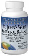 Planetary Herbals St. John's Wort Emotional Balance Tablets, 60 Count