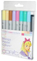 Copic Markers 9-Piece Ciao Manga Set, Pastel