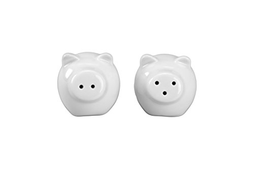 BIA Cordon Bleu Mini Pig Salt and Pepper Shakers, White