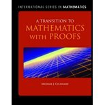img - for A Transition to Mathematics with Proofs by Cullinane, Michael. (Jones & Bartlett Learning,2011) [Hardcover] book / textbook / text book