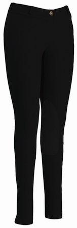 TuffRider Women's Starter Lowrise Pull-On Breech, Black, 32