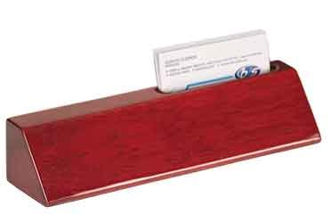 Piano Finish Business Card Holder - Woltman - 8 1/2
