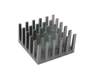 s 10 item WAKEFIELD ENGINEERING 624-45AB 624 Series 21 x 21 x 11.4 mm Square Black Anodized Omnidirectional Heat Sink