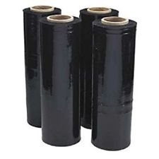 Kat Pak Stretch Wrap black tint 18 inches x 1000 feet x .70 gauge (Black Film Stretch)