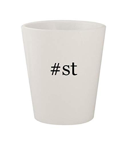 #st - Ceramic White Hashtag 1.5oz Shot Glass
