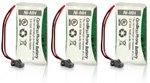 Replacement Battery for Uniden BT-1008 / BT-1016 / BT-1021 / BT-1025 (3-Pack), Office Central