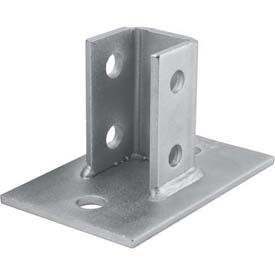 Unistrut P2942-EG Post Base Single Channel, 2 Hole, Standard, 3-1/2