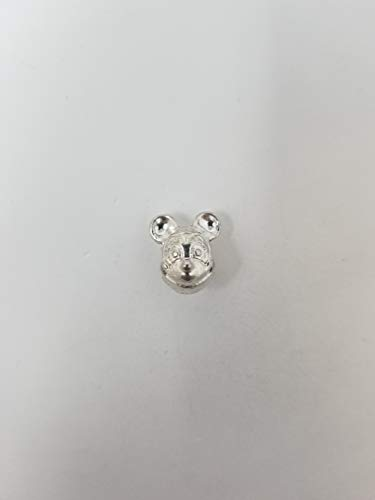 Wholesale Bulk Silver Mickey Mouse Head for Jewelry Making, JoJoGold 6 Pieces Gold Charm Pendants for DIY Necklace or Bracelet Crafting