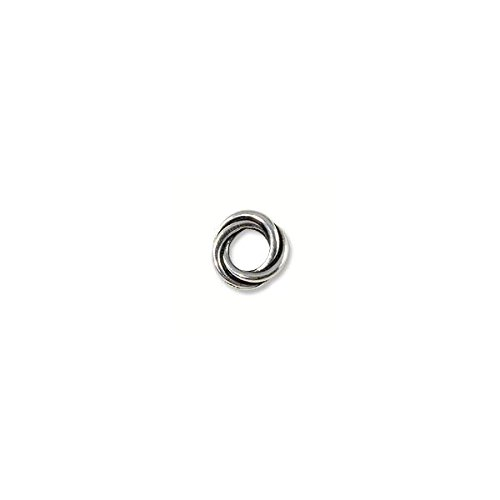 Bead Twisted Spacer 8mm Pewter Antique Silver Plated (1-Pc)