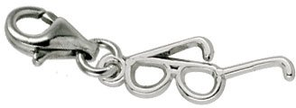 Rembrandt Charms Eyeglasses Charm with Lobster Clasp, 14k White Gold