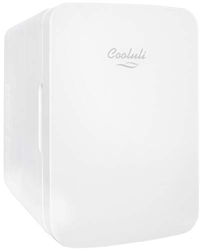- Cooluli Infinity 10-liter Compact Cooler/Warmer Mini Fridge for Cars, Road Trips, Homes, Offices, and Dorms (White)