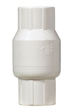 NDS KC-1000-S 1-Inch Slip PVC Schedule 40 Spring Check Valve, Gray