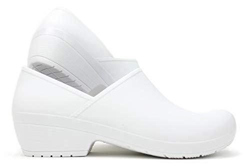 Boaonda Women's Closed Back Clog - Susi Shoes (9, White)