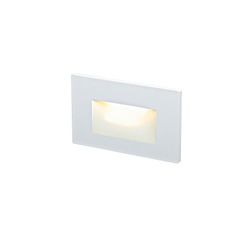 DALS Lighting LEDSTEP005D-WH 4.75'' Recessed Horizontal Indoor/Outdoor LED Step, White by DALS Lighting (Image #1)