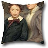 20-x-20-inches-50-by-50-cm-oil-painting-henry-o-walker-mrs-william-t-evans-and-her-son-throw-pillow-