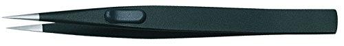 GEDORE 722-1 ESD Precision Tweezers, Flat, Satin Non-Glare Finish, ESD