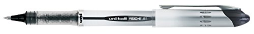 uni-ball Vision Elite Rollerball Pens, Bold Point (0.8mm), Black, 4 Count by Uni-ball (Image #3)