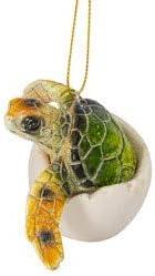 Globe Imports Sea Turtle Hatchling Green Christmas Tree Ornament