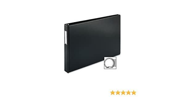 11x17 Binder Vinyl Panel with Pockets Featuring a 1 Angle-D Ring Black 515910