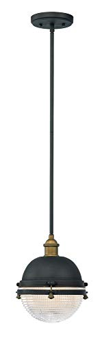 Maxim Lighting Brass Outdoor Lighting - Maxim Lighting 10184OIAB Portside Outdoor Hanging Lantern Oil Rubbed Bronze/Antique Brass