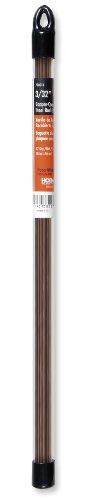 Hobart 770514 Mild Steel Copper-Coated Oxy-Acetylene Welding Rod, 3/32-by-18-Inch